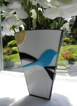 Stained Glass Fuse Vase