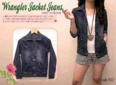 Jaket Jeans Wrangler for Woman Dark Blue Online - http://www.butikjingga.com/jaket-jeans-wrangler-for-woman-dark-blue