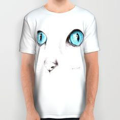 #alloverprint #tshirt #clothing #cat #eyes #blueeyes #animals #minimalist