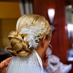 Back of Hair, Low Updo, Accessory Idea