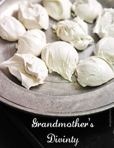 Divinity candy is a delicious confections. This heirloom divinity recipe is a family tradition and never fails me.