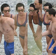 Millie at Paloma Beach on July 12, 2016 with Jamie while he films Fifty Shades Freed in France.