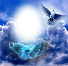 Peace Pictures, Dove Pictures, Cross Pictures, Pictures Of Jesus Christ, Angel Pictures, Art Heaven, Heaven Painting, Images Ciel, Images Du Christ