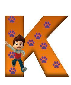 K paw patrol Los Paw Patrol, Paw Patrol Party, Paw Patrol Birthday, Letter K Design, Cute Alphabet, Displays, Puppy Party, Cartoon Dog, Disney Quotes