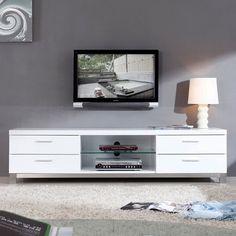 """B-Modern - Promoter 79"""" High-Gloss White TV Stand - BM-120-WHT"""