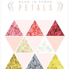 Our silk rose petals in 24 gorgeous colors are back in stock on our site KoyalWholesale.com!