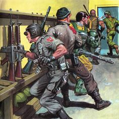 GIJoe picture book called Operation:Star Fight. Artwork by Earl Norem.