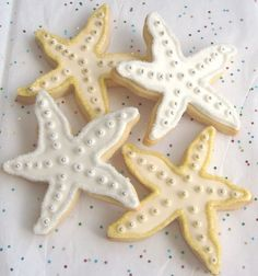 ❥ starfish cookies #VABeachWedding