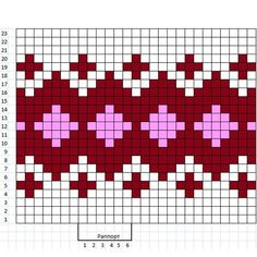 Tapestry Crochet Patterns, Fair Isle Knitting Patterns, Knitting Charts, Knitting Stitches, Knitting Designs, Knit Patterns, Cross Stitch Patterns, Crochet Diagram, Crochet Chart