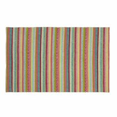 cotton striped rug, multicoloured 120 x Twist Textiles, Outdoor Rugs, Outdoor Blanket, Coat Hanger Hooks, Sun Lounger Cushions, Decorative Storage Boxes, Trunks And Chests, Nursery Rugs, Quilted Bedspreads