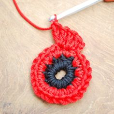 Crochet Stitches For Beginners crochet - Get those hooks out. here's a free Remembrance Poppy Crochet Pattern. Crochet Butterfly Free Pattern, Crochet Flower Tutorial, Crochet Flower Patterns, Knitting Patterns, Crochet Ideas, Stitch Patterns, Knitted Poppies, Knitted Flowers, Crochet Crafts