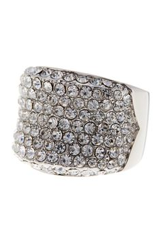 Bold Pave Crystal Ring