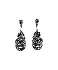 Look at this #zulilyfind! Marcasite & Sterling Silver Knot Vintage Drop…
