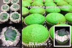Pandan-Macapuno Cupcakes