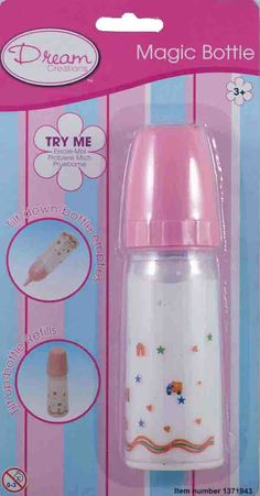 "Magic Baby Bottles for my dolls - loved to watch the milk or OJ disappear when my dolls would ""drink"""