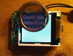 Reveal a secret digital message with a polarizing filter and a LCD screen.  What high tech geocaching puzzle possibilities would this idea have?
