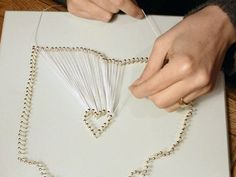 State shaped string art - could place heart in city where they first met for wedding gift!