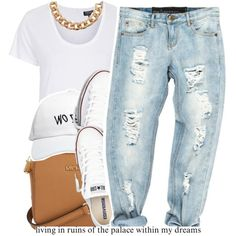 A fashion look from August 2015 by trinityannetrinity featuring Topshop, Converse, Michael Kors and October's Very Own