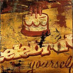 art: Celebrate Yourself, artist: Rodney White  collage w message