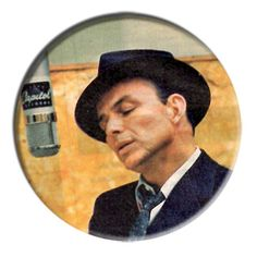 ONLY ONE Frank Sinatra 2-1/4 Inch Button