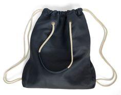 Leather Backpack/ Tote Navy Color JUD Hand Made par JUDtlv sur Etsy, $250.00