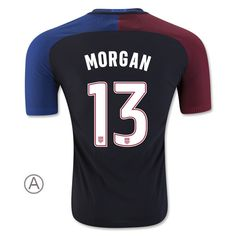 2016 17 USA Away Alex Morgan Men s Authentic Soccer Jersey ( 13) Alex 1da3122bf