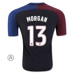 2016/17 USA Away Alex Morgan Men's Authentic Soccer Jersey (#13)