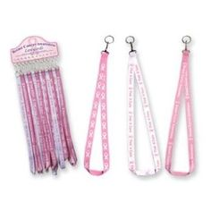 Pink Ribbon BREAST CANCER AWARENESS Lanyard,$2.73
