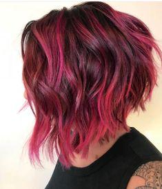 is the artist Pulp Riot is the paint. Short Straight Hair, Short Hair Styles Easy, Short Dark Hair, Curly Hair Styles, Hair Color And Cut, Cool Hair Color, Pulp Riot Hair Color, Hair Dye Colors, Bright Hair