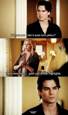 the vampire diaries   Caroline Forbes and Damon