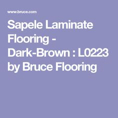 Sapele Laminate Flooring - Dark-Brown : L0223 by Bruce Flooring