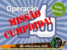 Operação 500 likes Music Shop Café cumprida com êxodo.