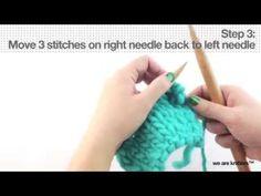 Cómo rematar las prendas tejidas con cordón - Aprender a tejer