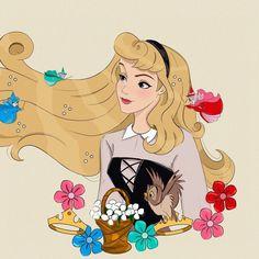 Disney Princess Drawings, Disney Princess Party, Disney Drawings, Disney Princesses, Aurora Disney, Disney Magic, Walt Disney, Disney Artwork, Disney Fan Art