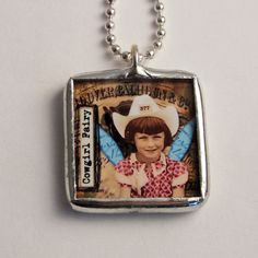 Soldered Glass Art Collage Necklace Reversible by mysweetseptember, $15.00