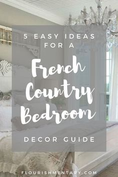 So you're in love with the classic motifs of french decor, but crave a more relaxed look in the bedroom. Voliá- that's where french country bedroom decor comes in. It's the perfect American twist… French Country Bedding, Modern French Country, French Country Bedrooms, Bedroom Country, French Style, French Home Decor, French Country Decorating, French Country Wall Decor, French Bedroom Decor