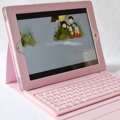 Cheap Apple Pink iPad Air Cases With Keyboard iPad Air Cover Keyboard IP506 #Apple