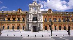 Palacio de San Telmo, residencia oficial de los duques de Montpensier en Sevilla.