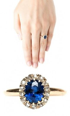 Beautiful Sapphire and Diamond Engagement Ring