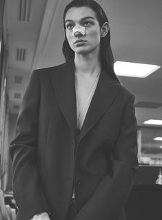 Model McKenna Hellam is styled by Marina Gallo in boss lady looks lensed by Stefano Galuzzi for Vanity Fair France March Hair by Rimi Ura; Suit Fashion, Fashion Photo, Fashion Brand, Mckenna Hellam, Hot Actors, Ladies Day, Vanity Fair, Face And Body, Suits For Women