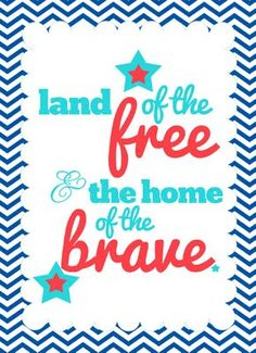House on Ashwell lane: The best 4th of July party printables all in one place 4th Of July Celebration, 4th Of July Party, Fourth Of July, Happy Birthday America, Happy Birthday Cards, Land Of The Free, July Crafts, Happy 4 Of July, Veterans Day