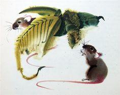 Чешский художник Мирко Ханак(Mirko Hanak) | Чешский художник картины искусство | art иллюстрации животные живопись автор