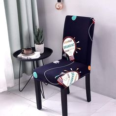 Chair cover Sunny style - Sunailoom Kitchen Table Chairs, Modern Dining Chairs, Dining Furniture, Reupholster Furniture, Stretch Chair Covers, Spandex Chair Covers, Parsons Chair Slipcovers, Banquet, Dining Room Chair Covers