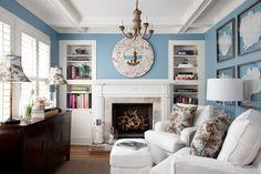 blue + white sitting room, Heather Scott Home