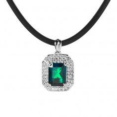 Pendente pari a 0.27ct in argento 925 con smeraldo sintetico - QVC Italia