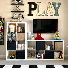 55 stunning basement playroom ideas for kids - Teen Bedroom - - . - 55 stunning basement playroom ideas for kids – Teen Bedroom – – - Playroom Design, Playroom Decor, Playroom Layout, Playroom Shelves, Bedroom Shelves, Cubbies, Playroom Organization, Organization Ideas, Organized Playroom