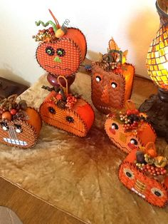 Stitched by the always fantastic Polly V. With Park Avenue Ndlpt. Melissa Shirley's Sourpuss Pumpkins. On the way to their  home today.