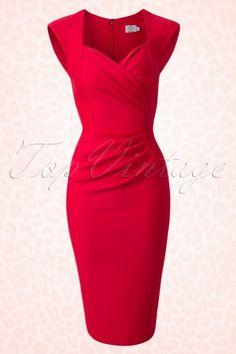 Diva Catwalk Red Pin up Pencil Dress 100 20 14861 20150213 Pin Up Dresses, Cute Dresses, Vintage Dresses, Fashion Dresses, 50s Dresses, Girl Fashion, Lace Dress, Dress Up, Bodycon Dress