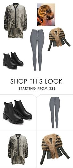 """""""Sans titre #4457"""" by heidi-samoyau ❤ liked on Polyvore featuring Topshop and Religion Clothing"""