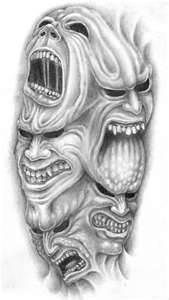 Demons Tattoo Sketch – Picture At CheckoutMyInkcom                                                                                                                                                                                 More